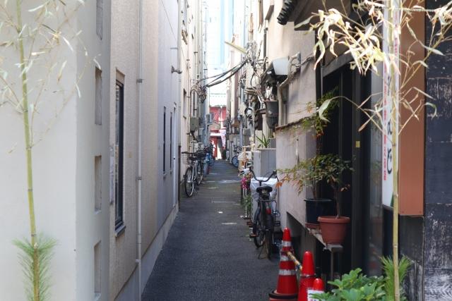 狭い家・都会のイメージ
