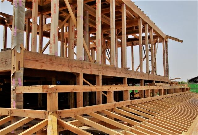 注文住宅の建築中のイメージ