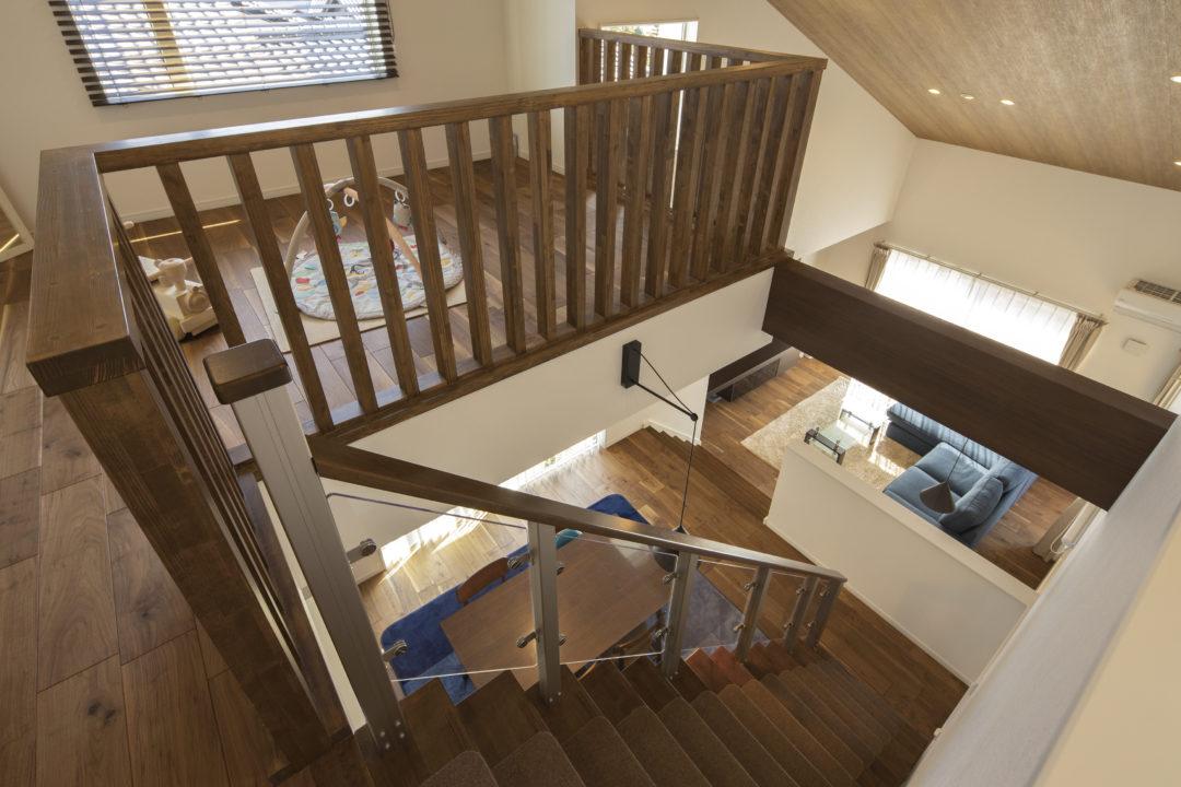 リビング階段と吹き抜けのイメージ