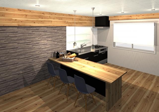 住宅の3D画像(パース)のイメージ